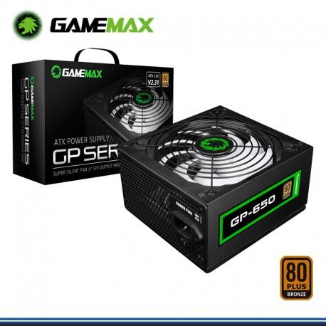 FUENTE DE PODER GAMEMAX 650W REAL ATX 12 V V 2.3 1 80 PLUS BRONZE (PN: GP-650)