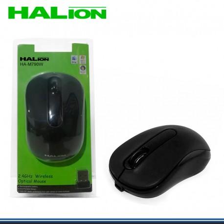 MOUSE INALAMBRICO HALION HA-M790W NEGRO