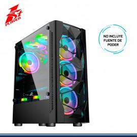 CASE 1STPLAYER DK-D4 RGB SIN FUENTE VIDRIO TEMPLADO NEGRO USB 3.0/USB 2.0