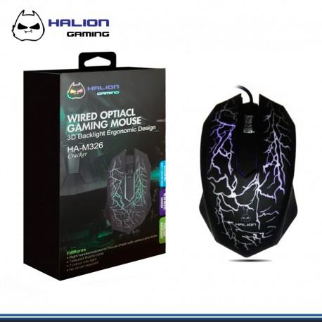 MOUSE HALION GAMER CRACKER HA-M326 LED USB