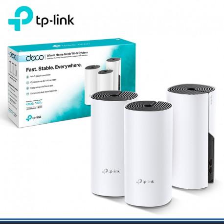 SISTEMA WIFI TP LINK DECO E4-3 HOME MESH WIFI (3- PACK ) MESH AC 1200