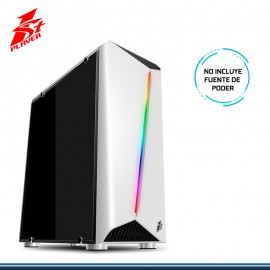 CASE 1ST PLAYER RAINBOW R3 RGB WHITE SIN FUENTE CON VENTANA VIDRIO USB 3.0/USB 2.0