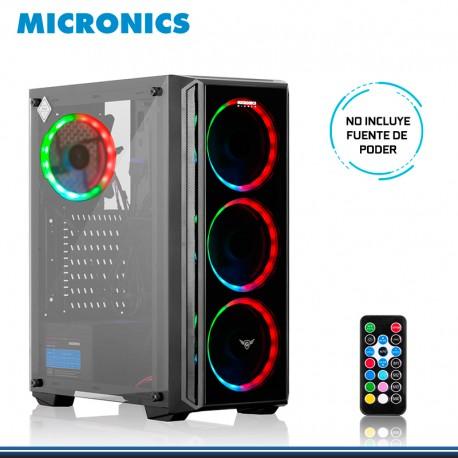 CASE MICRONICS WINNER MIC C805 RGB USB 3.0 4FAN SIN FUENTE 12CM