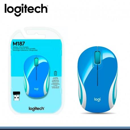 MOUSE LOGITECH M187 MINI WIRELESS BLUE (910-005360)
