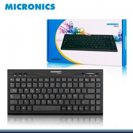 TECLADO MICRONICS MULTIMEDIA SLIM YUPPIE USB MIC 716