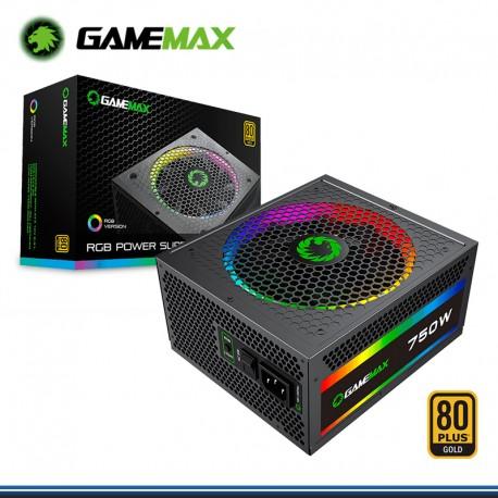 FUENTE DE PODER GAMEMAX 750W RGB FULL MODULAR 80 PLUS GOLD