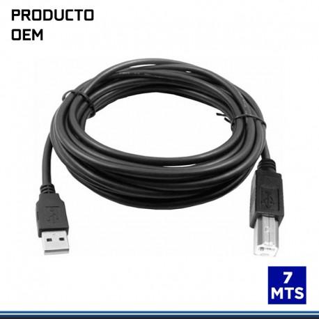 CABLE USB DE IMPRESORA C/ FILTRO 7 MTS