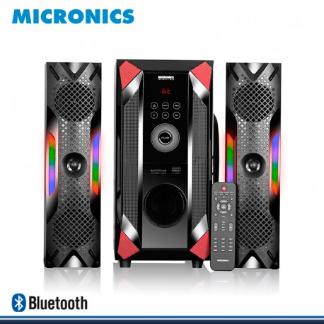 SISTEMA DE AUDIO MICRONICS LED INFINITY 6.5 MIC S7044BT FM+ RC SD+USB 150 RMS