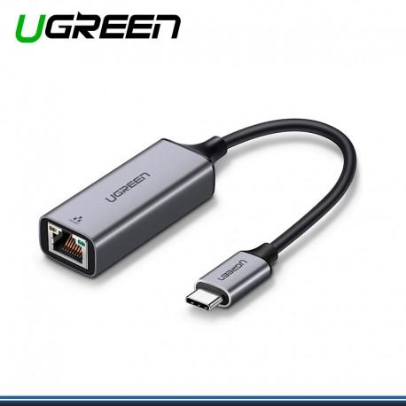 ADAPTADOR USB TIPO C A RJ45 10/100/1000 UGREEN DE METAL COD. 109