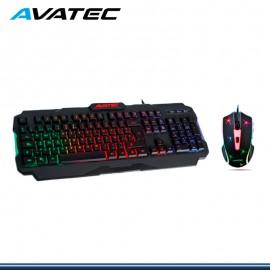 KIT AVATEC GAMER TECLADO+MOUSE CMK-8408B RGB