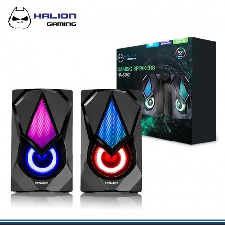 PARLANTE HALION GAMER HA-S252 DIAMANTE 2.0 RGB DE 3W * 2 USB