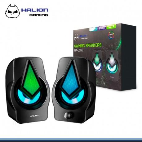 PARLANTE HALION GAMER HA-S266 DIAMANTE 2.0 RGB DE 3W * 2 USB