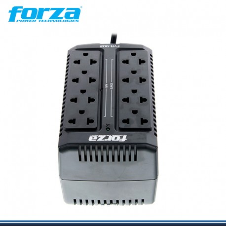 ESTABILIZADOR FORZA FVR-902 900VA   450W   8 TOMAS   IMPORTADO