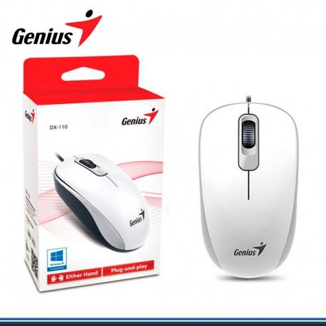 MOUSE GENIUS DX-110 USB 1.000 DPI WHITE (PN 31010116102)