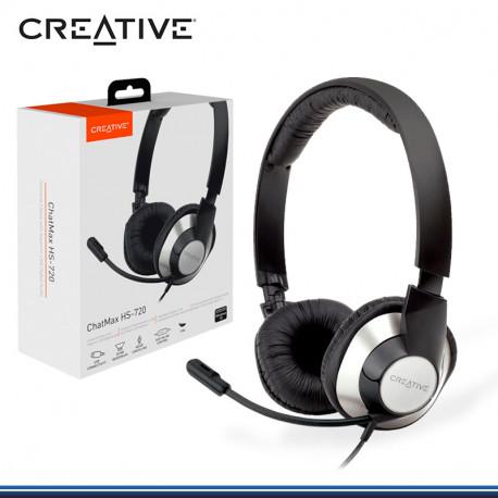 AUDIFONO C/MICROFONO CREATIVE CHATMAX HS-720 C/ANULACION DE RUIDO USB (PN:51EF0410AA004)