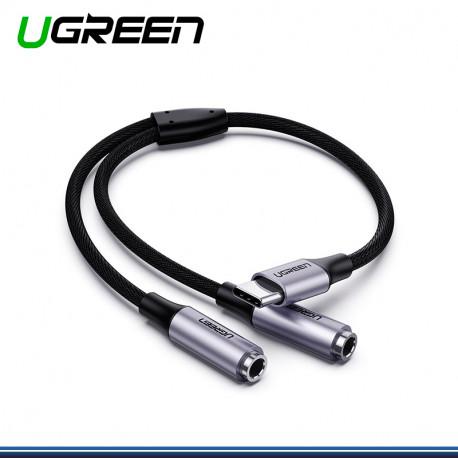ADAPTADOR DE USB TIPO C A 3.5 UGREEN P30/NOTE 10 PLUS/S8 PN 30732