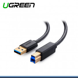CABLE DE IMPRESORA USB 3.0 UGREEN DE 2 METROS VELOCIDAD DE 480MBPS PN 10372