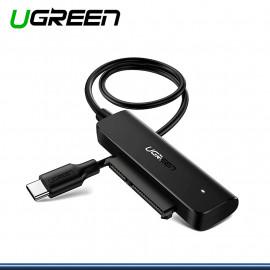 ADAPTADOR USB 3.0 UGREEN A SATA PARA HDD Y SSD (COD 70609