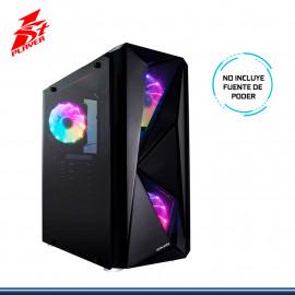 CASE 1STPLAYER F4 BLACK SIN FUENTE VIDRIO TEMPLADO USB 3.0/USB 2.0