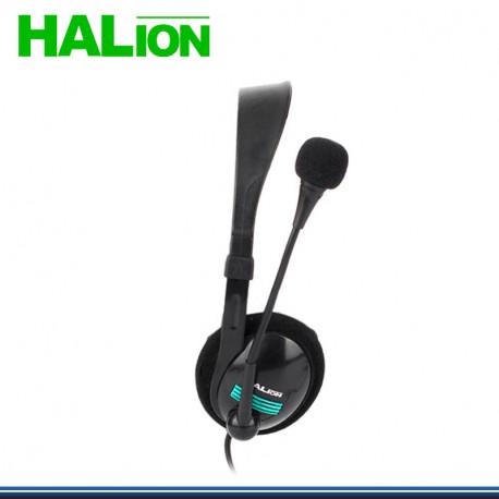 AUDIFONO HALION C/MICROFONO HA-281 VERDE//AZUL