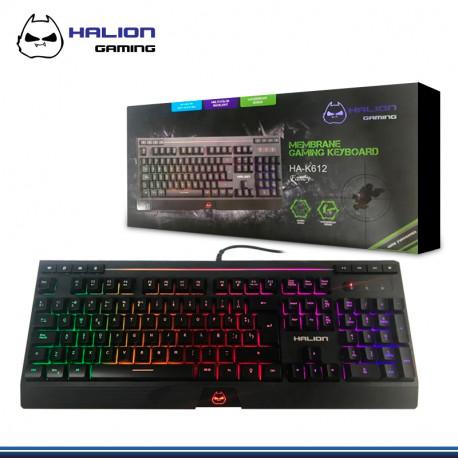 TECLADO HALION GAMER FANCY HA-K612 MULTIMEDIA RAINBOW USB