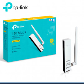USB TP-LINK TL-WN722N ADAPTADOR 150MBPS RED WIFI CON ANTENA DESMONTABLE