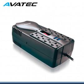 ESTABILIZADOR AVATEC AVA-1200U 8 TOMAS CON 2 PUERTOS USB 3.0