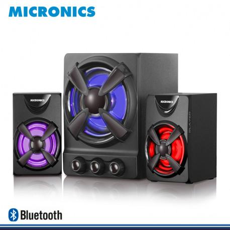 PARLANTE MICRONICS PLAYER MIC S601B 2.1 LED RGB DE 30 RMS