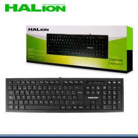 TECLADO HALION STANDAR HA-K390 NEGRO USB