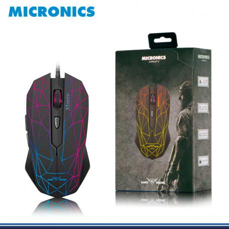 MOUSE MICRONICS XFINITY MIC-M809 GAMER 6 LEDS