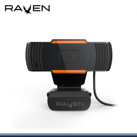 CAMARA RAVEN H20 1280 * 720 C/ MICRO 30FPS USB 2.0/3.5MM WIN 10,8,8.1,7, MAX 10X