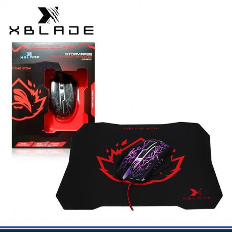 MOUSE XBLADE GAMING STORMRAGE + PAD MOUSE BLACK (PN:GXB-MP381)